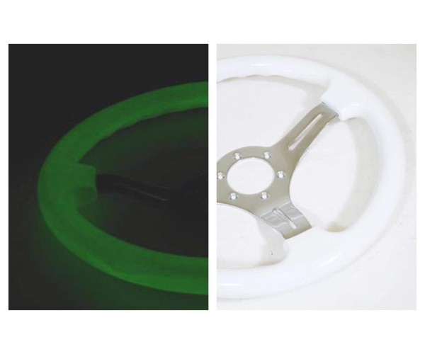 dnd performance interior 350mm glow in the dark steering wheel ebay. Black Bedroom Furniture Sets. Home Design Ideas