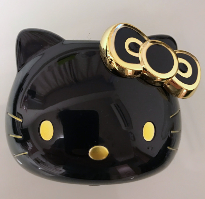Hello Kitty Cup Holder Black & Gold VIP Edition