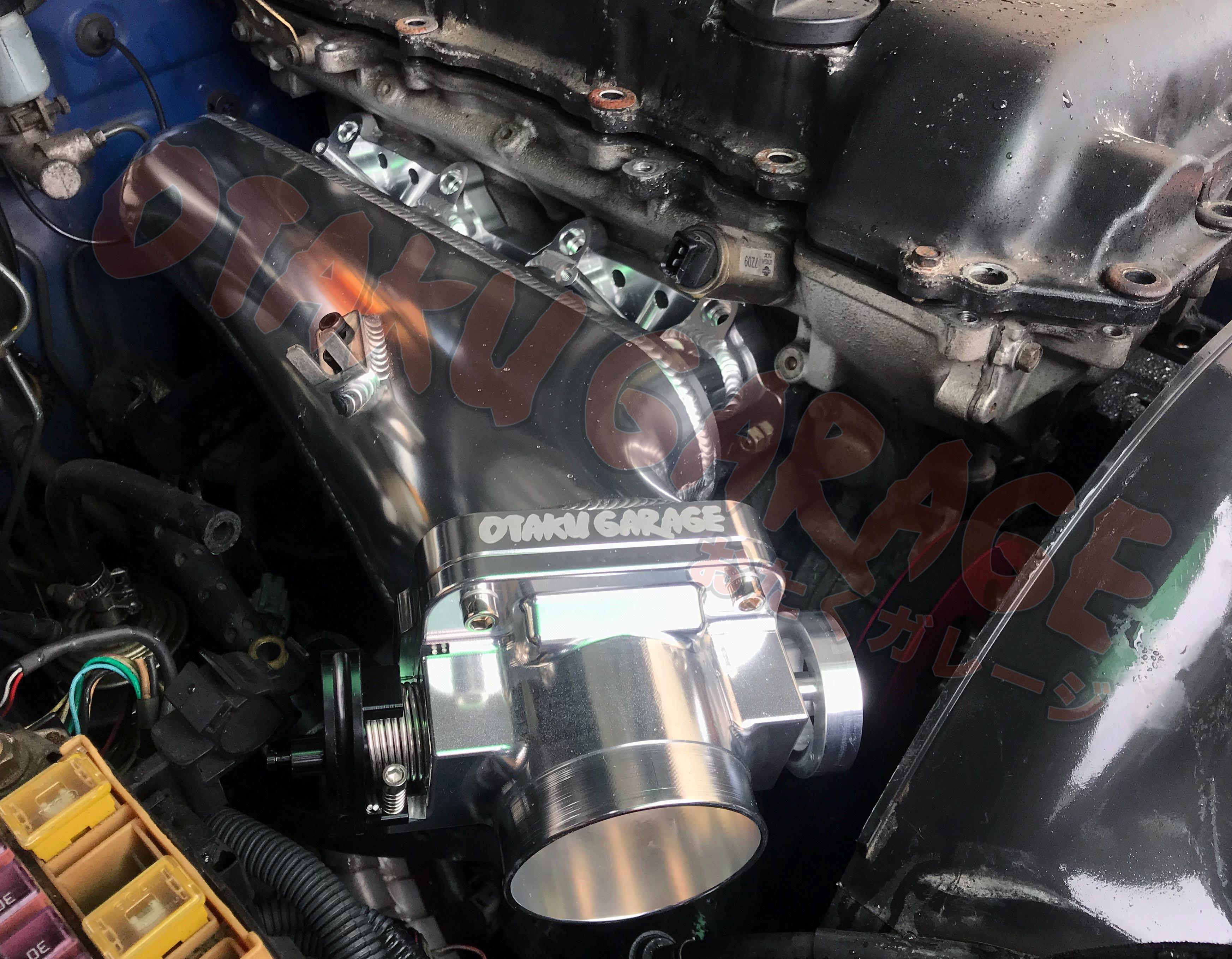 Otaku Garage Billet Intake Manifold/ Forward Facing Plenum - SR20DET S13/  S14/ S15/ 180SX/ 240SX