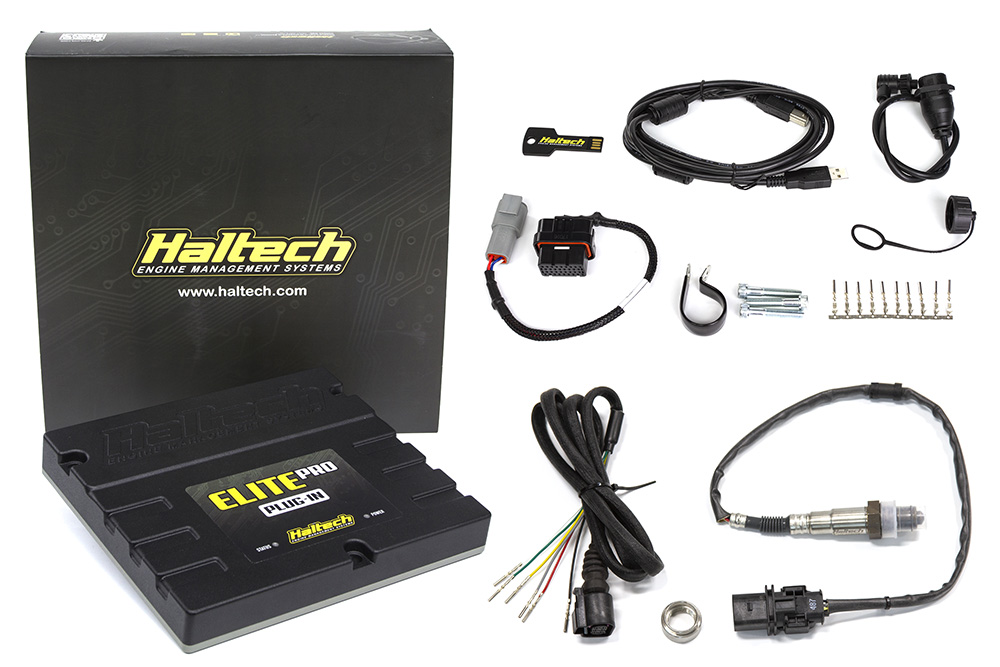 "Haltech Elite PRO Plug-in ECU - Ford Falcon i6 ""Barra"" + Onboard Wideband Sensor Kit"