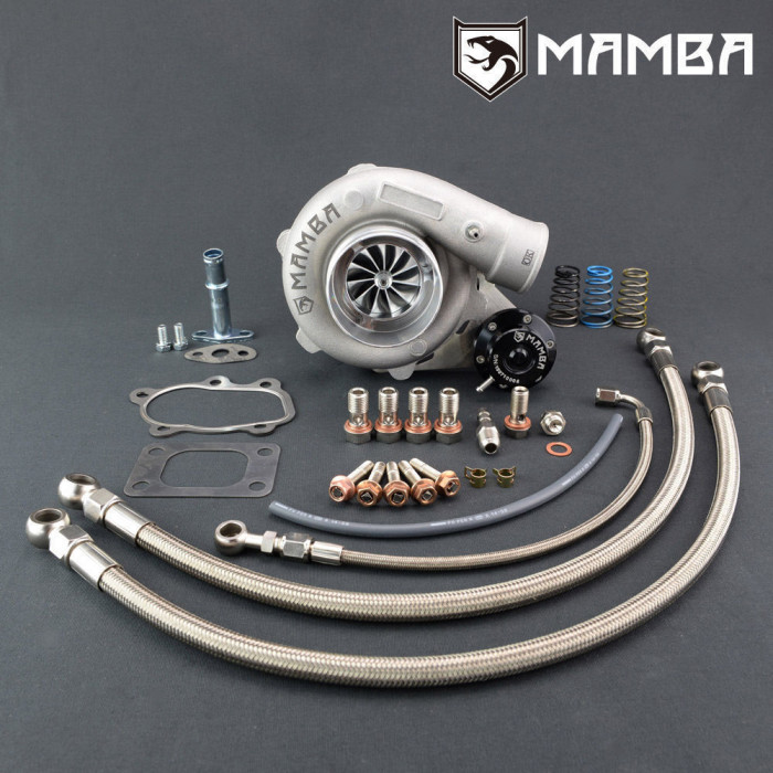 "MAMBA GTX Billet Ball Bearing Turbocharger NISSAN SR20DET 180SX S13 S14 S15 200SX 3""  GT2860RS with A/R .64 Turbine Housing"